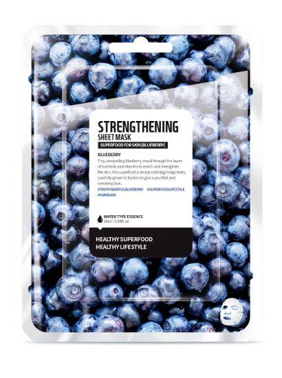 "Тканевая маска ""Голубика - Укрепление"" Superfood for Skin Strengthening Sheet Mask"