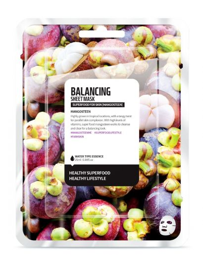 "Тканевая маска ""Мангостин - Баланс"" Superfood for Skin Mangosteen Balancing Sheet Mask"
