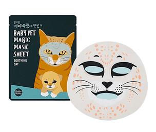 Тканевая маска Holika Holika Baby Pet Magic Mask Sheet Soothing Cat