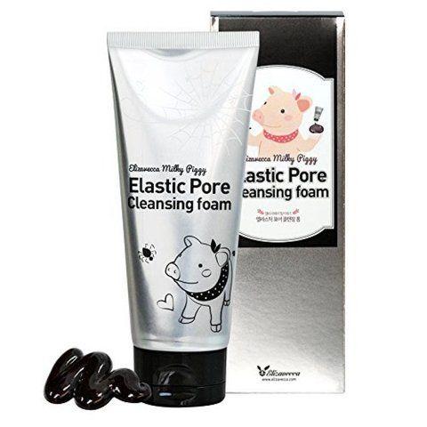 Черная пенка для умывания и очистки пор Elizavecca Face Care Milky Piggy Elastic Pore Cleansing Foam