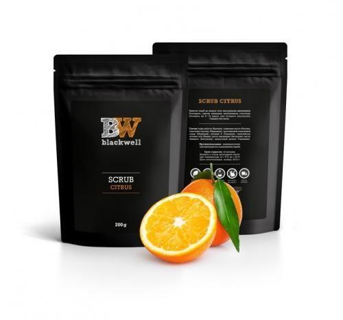 Натуральный органический скраб на основе кофе Blackwell Citrus