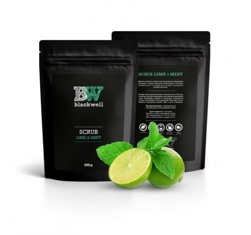 Натуральный органический скраб на основе кофе Blackwell Lime and Mint