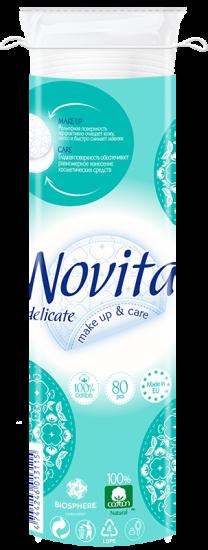 Косметические ватные диски NOVITA Delicate 80 шт