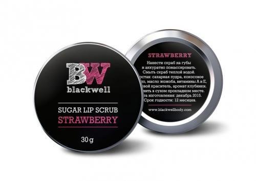 Сахарный скраб для губ Blackwell Клубника