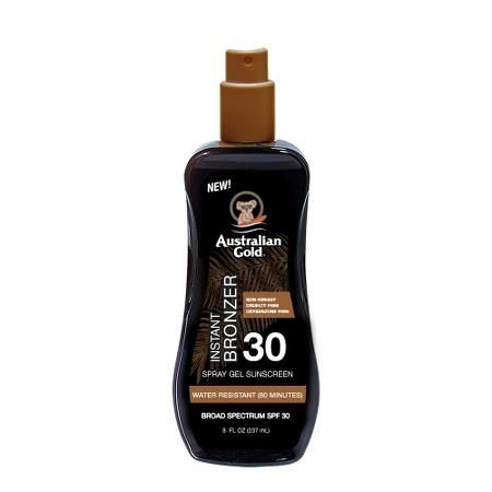 Спрей-гель для загара с бронзатором Australian Gold Spray Gel Sunscreen with Instant Bronzer SPF 30