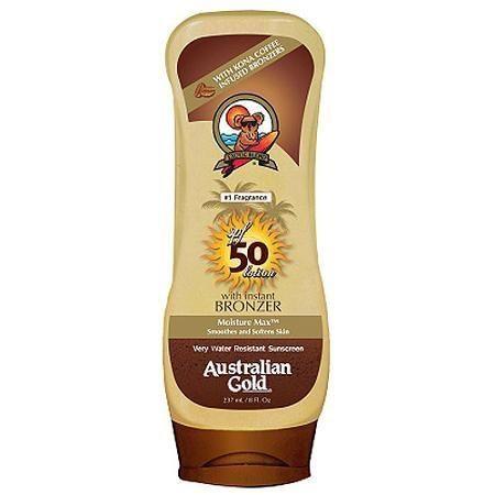 Увлажняющий солнцезащитный лосьон Australian Gold Sunscreen Lotion with Instant Bronzer SPF 50