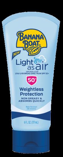 Легкий солнцезащитный лосьон BANANA BOAT LIGHT AS AIR SUNSCREEN LOTION SPF50+
