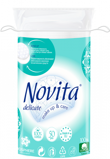 Косметические ватные диски NOVITA Delicate 50 шт