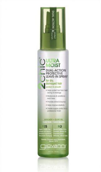 Увлажняющий спрей для волос Giovanni 2chic Ultra-Moist Dual Action Protective Leave-In Spray Avocado & Olive Oil