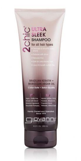 Шампунь для волос Giovanni 2chic Ultra-Sleek Shampoo Brazilian Keratin & Argan Oil