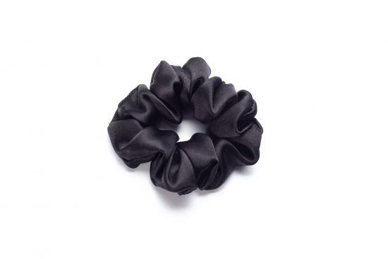 Резинка для волос из натурального шелка MON MOU (Черный)