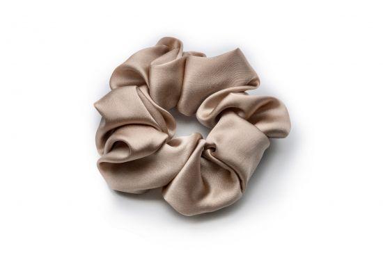 Резинка для волос из натурального шелка MON MOU (Бежевый)