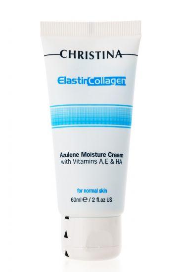 Увлажняющий азуленовый крем с коллагеном и эластином для нормальной кожи Christina Elastin Collagen Azulene Moisture Cream