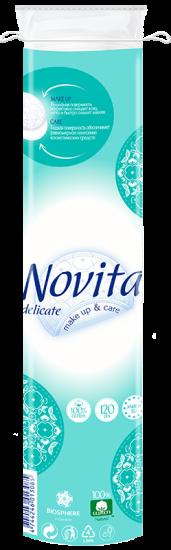 Косметические ватные диски NOVITA Delicate 120 шт