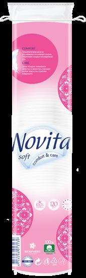 Косметические ватные диски Novita Soft 120 шт