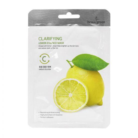 Тканевая маска для лица с экстрактом лимона BeauuGreen Clarifying Lemon Essence Mask