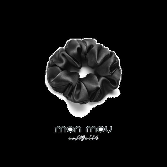Шелковая резинка в новогоднем шаре объемная MON MOU (Черный)