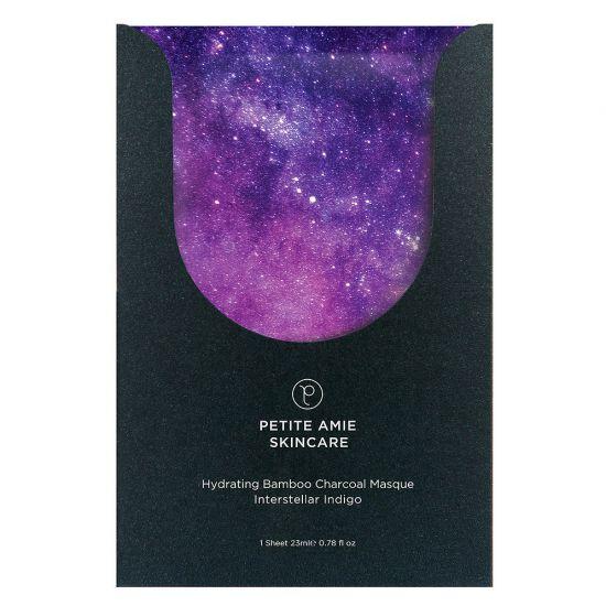 Угольная маска Увлажняющая Petite Amie Hydrating Bamboo Charcoal Masque Interstellar Indigo