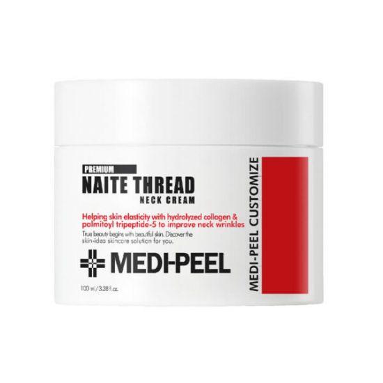 Пептидный крем для шеи и зоны декольте Medi Peel Naite Thread Neck Cream