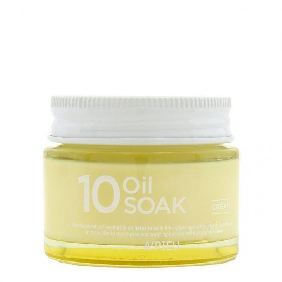 Крем для лица на растительных маслах A'PIEU 10 Oil Soak Cream