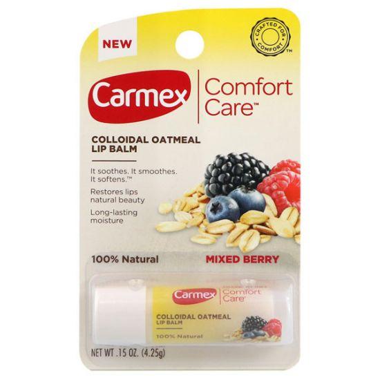 Бальзам для губ в стике Carmex Comfort Care Colloidal Oatmeal Lip Balm Mixed Berry Stick