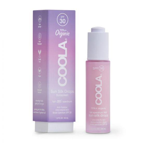Солнцезащитные капли для лица Coola Full Spectrum 360 Sun Silk Drops Organic Face Sunscreen SPF 30