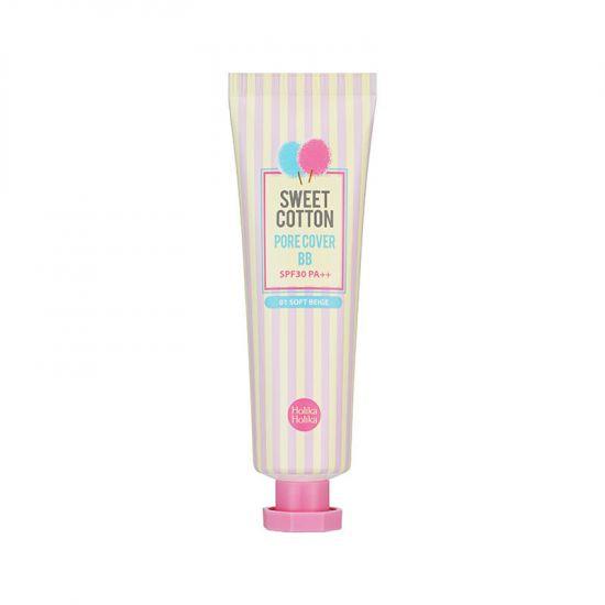 ББ-крем сглаживающий широкие поры Holika Holika Sweet Cotton Pore Cover BB #01 Soft Beige