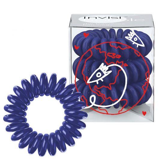 Резинка-браслет для волос 3 шт. Invisibobble Universal Blue