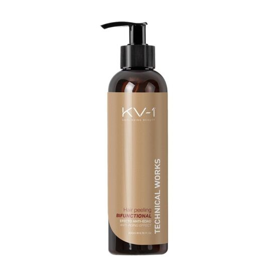 Капиллярный пилинг с пудрой абрикосовых косточек и АНА-кислотами KV-1 Technical Works Bifuncional Hair Peeling