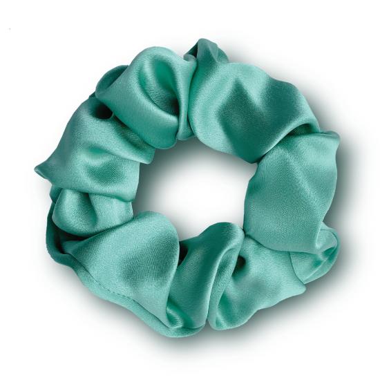Резинка для волос из натурального шелка MON MOU (Зеленый)