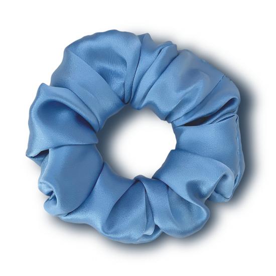 Резинка для волос из натурального шелка MON MOU (Голубой)