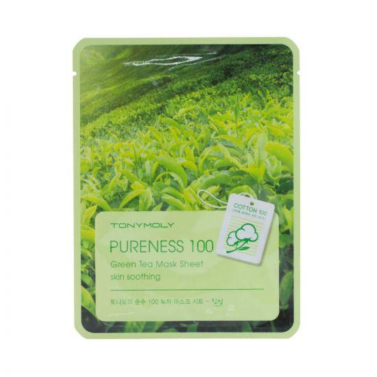Тканевая маска с экстрактом зеленого чая TONY MOLY Pureness 100 Green Tea Mask Sheet