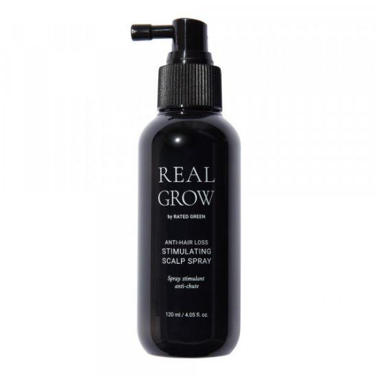 Стимулирующий спрей от выпадения волос Rated Green Real Grow Anti-Hair Loss Stimulating Scalp Spray
