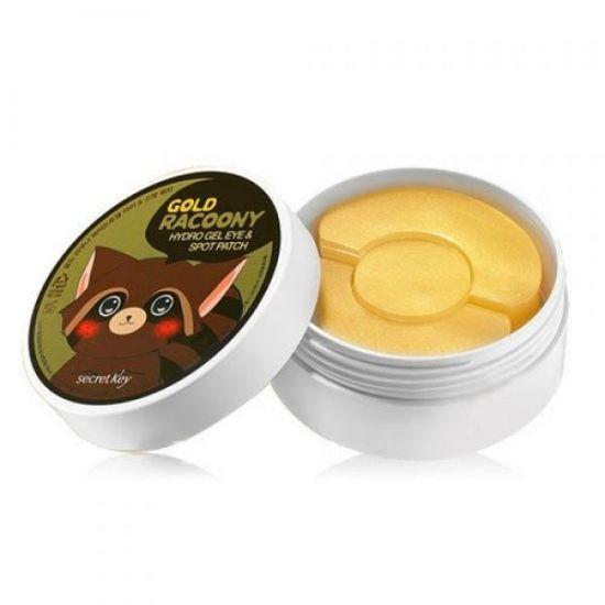 Патчи для глаз Secret Key Gold Racoony Hydro Gel and Spot Patch