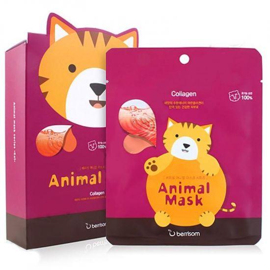 Тканевая маска Berrisom Animal Mask Collagen Cat
