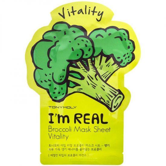 Тканевая маска для лица с брокколи TONY MOLY I'm Real Broccoli Mask Sheet