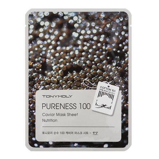Тканевая маска с экстрактом икры TONY MOLY Pureness 100 Caviar Mask Sheet