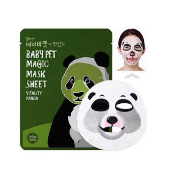 Тканевая маска Holika Holika Baby Pet Magic Mask Sheet Vitality Panda