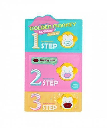 3-шаговый уход за губами Holika Holika Golden Monkey Glamour Lip 3-step Kit