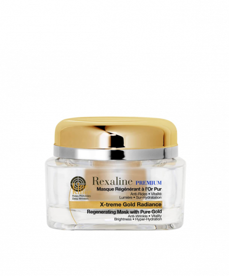 Омолаживающая маска для лица с частицами золота Rexaline PREMIUM LINE-KILLER X-Treme Gold Radiance Mask