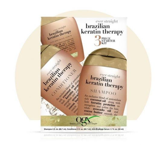 Набор для кератинового восстановления волос OGX Brazilian Keratin Therapy