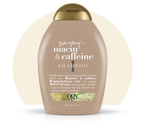 Шампунь против выпадения волос OGX Niacin3 & Caffeine