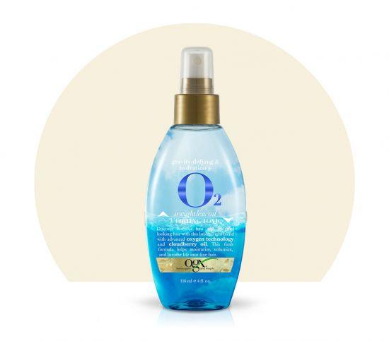 Двухфазный спрей для волос OGX 02 Weighless Oil + Lifting Tonic