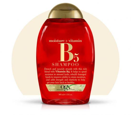 Увлажняющий шампунь для волос OGX Moisture + Vitamin B5